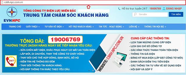 website cong ty dien luc