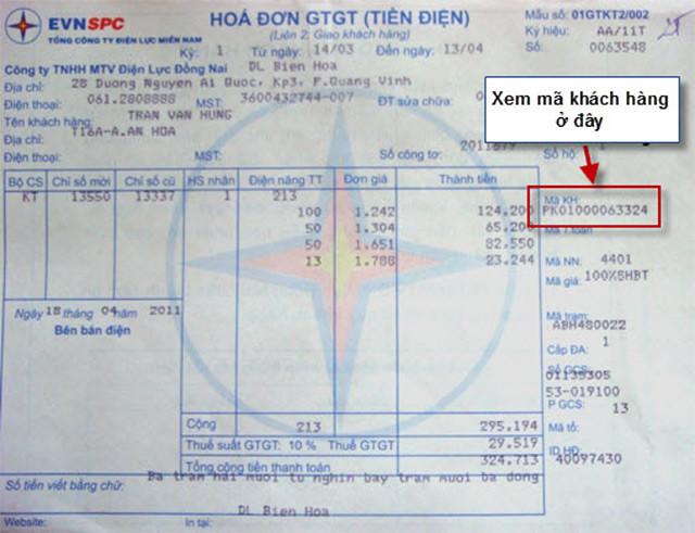 xem ma khach hang hoa don tien dien