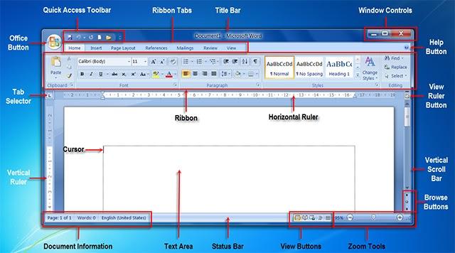 Phiên bản Office 2007 được cập nhật với nhiều thay đổi về giao diện, dung lượng