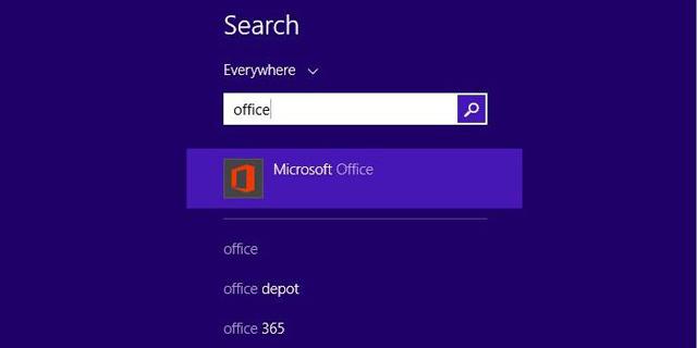 Tìm kiếm Office thông qua các ứng dụng tìm kiếm trên máy tính