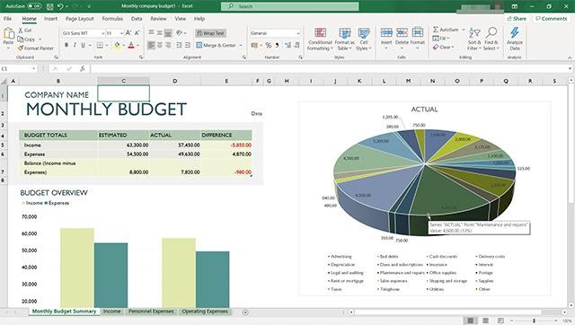 Vẽ biểu đồ trong Excel 2007 đơn giản với số liệu có sẵn