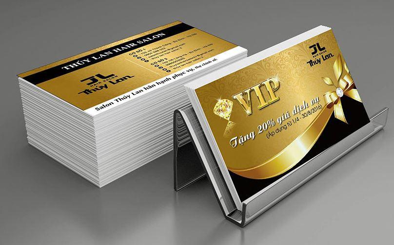Font chữ trên name card phụ thuộc vào đặc điểm của từng thương hiệu