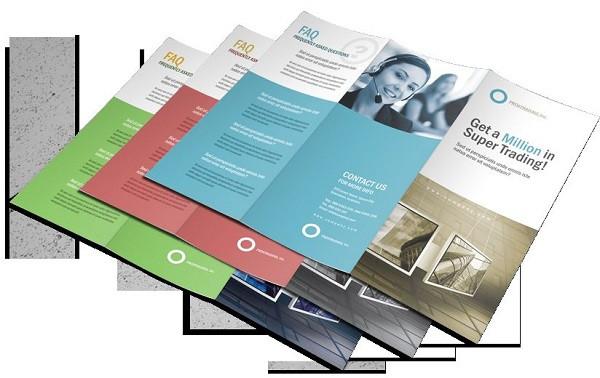 Tờ rơi có thể in trên nhiều chất liệu giấy khác nhau tùy theo yêu cầu của khách