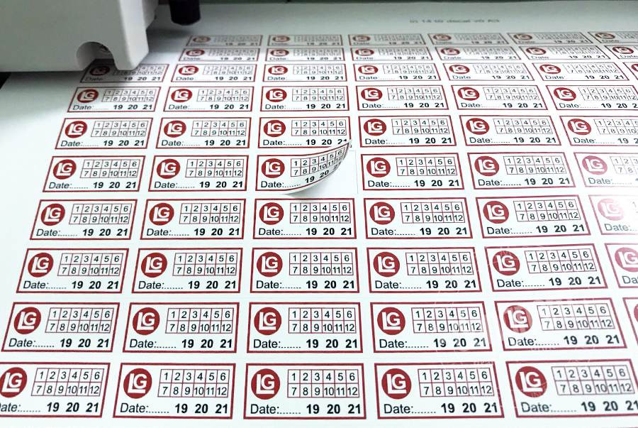 Nhận in ấn tem bảo hành số lượng ít, số lượng lớn