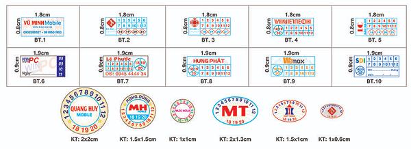 Kích thước in tem bảo hành phổ biến