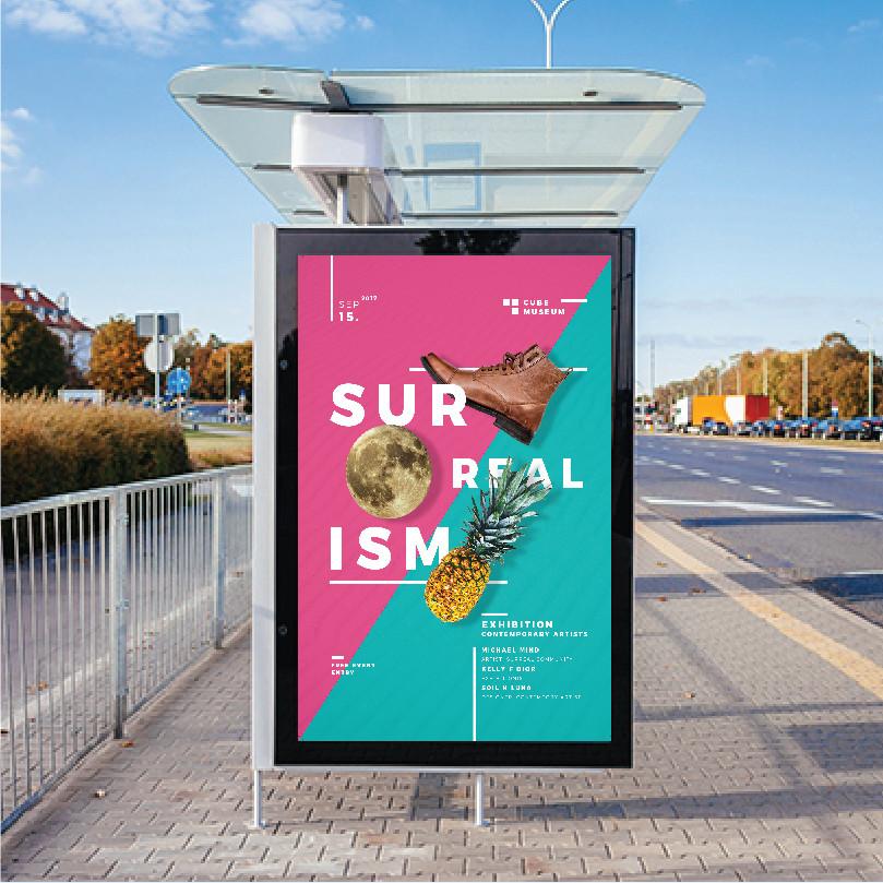 Poster được đặt ở những nơi công cộng