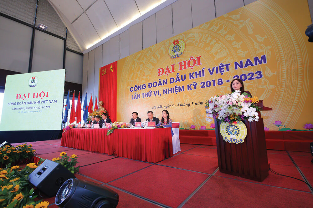 Backdrop đại hội công đoàn Việt Nam