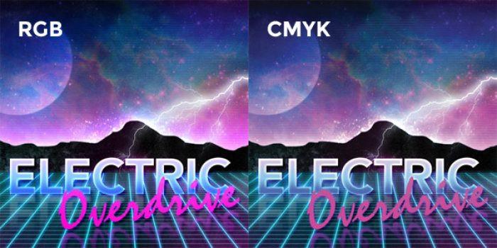 Hình ảnh hiển thị qua RGB và CMYK là khác nhau
