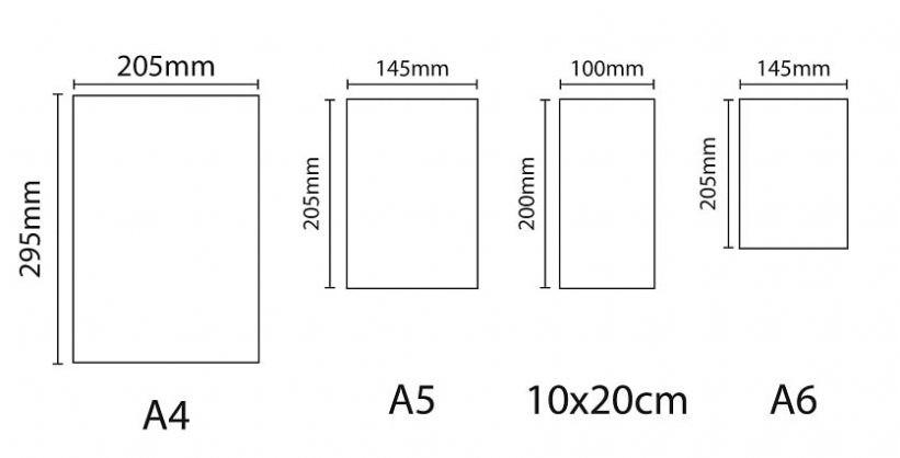 Kích thước tờ rơi phổ biến là A5, A4, A3
