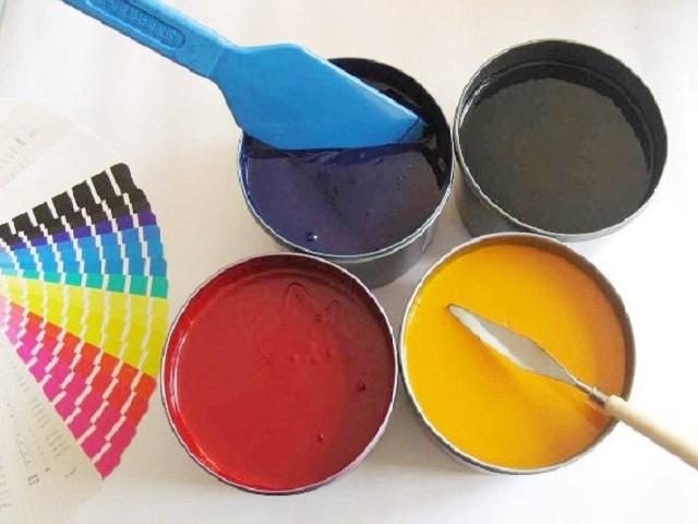 Những loại mực được dùng trong in ấn khi pha mực in lụa