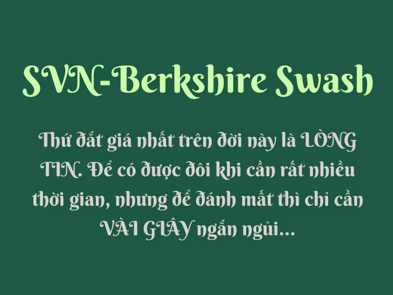 Font Berkshire Swash