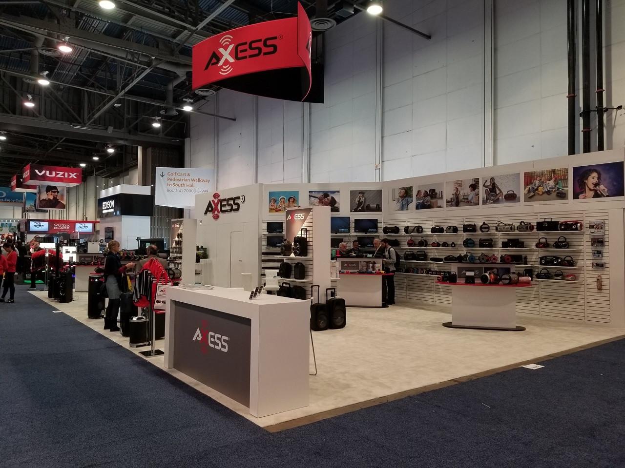 Booth bán hàng sản phẩm của AXESS