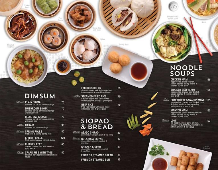 Chọn nội dung thích hợp cho menu