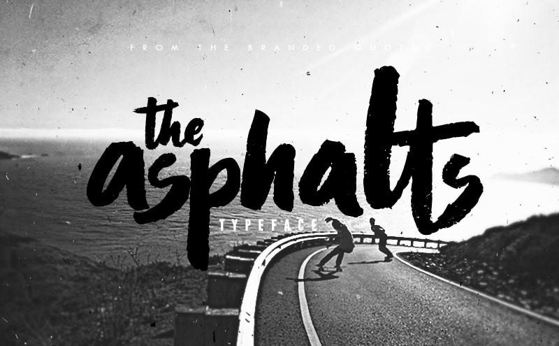 Font chữ Asphalt thể hiện đẳng cấp