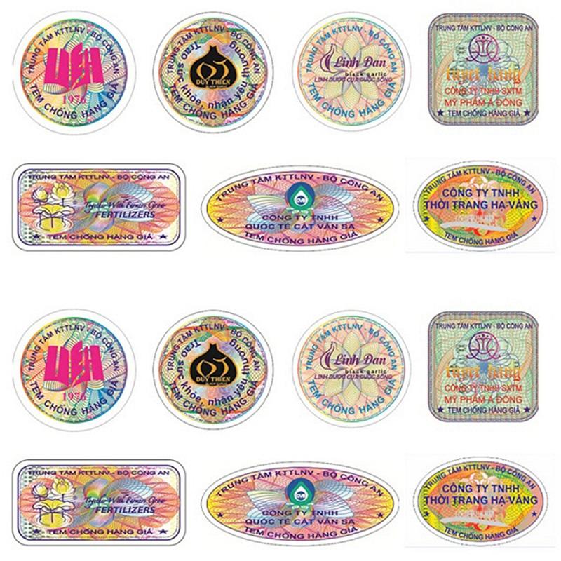 Có nhiều kiểu in tem chống hàng giả khác nhau