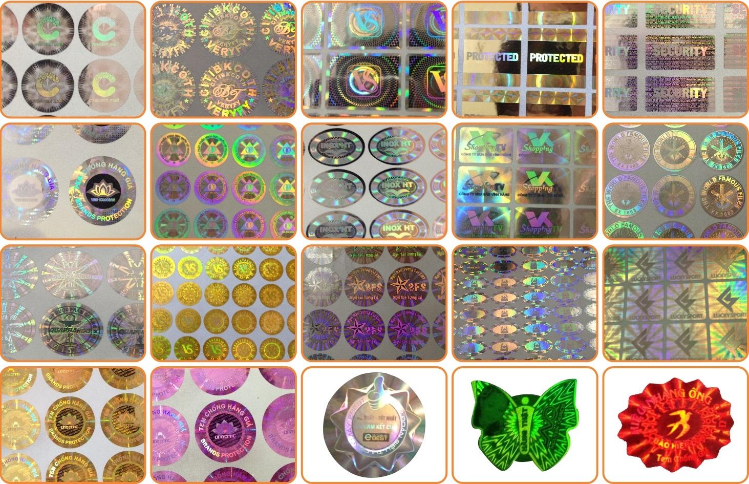 Có nhiều kiểu tem chống hàng giả khác nhau
