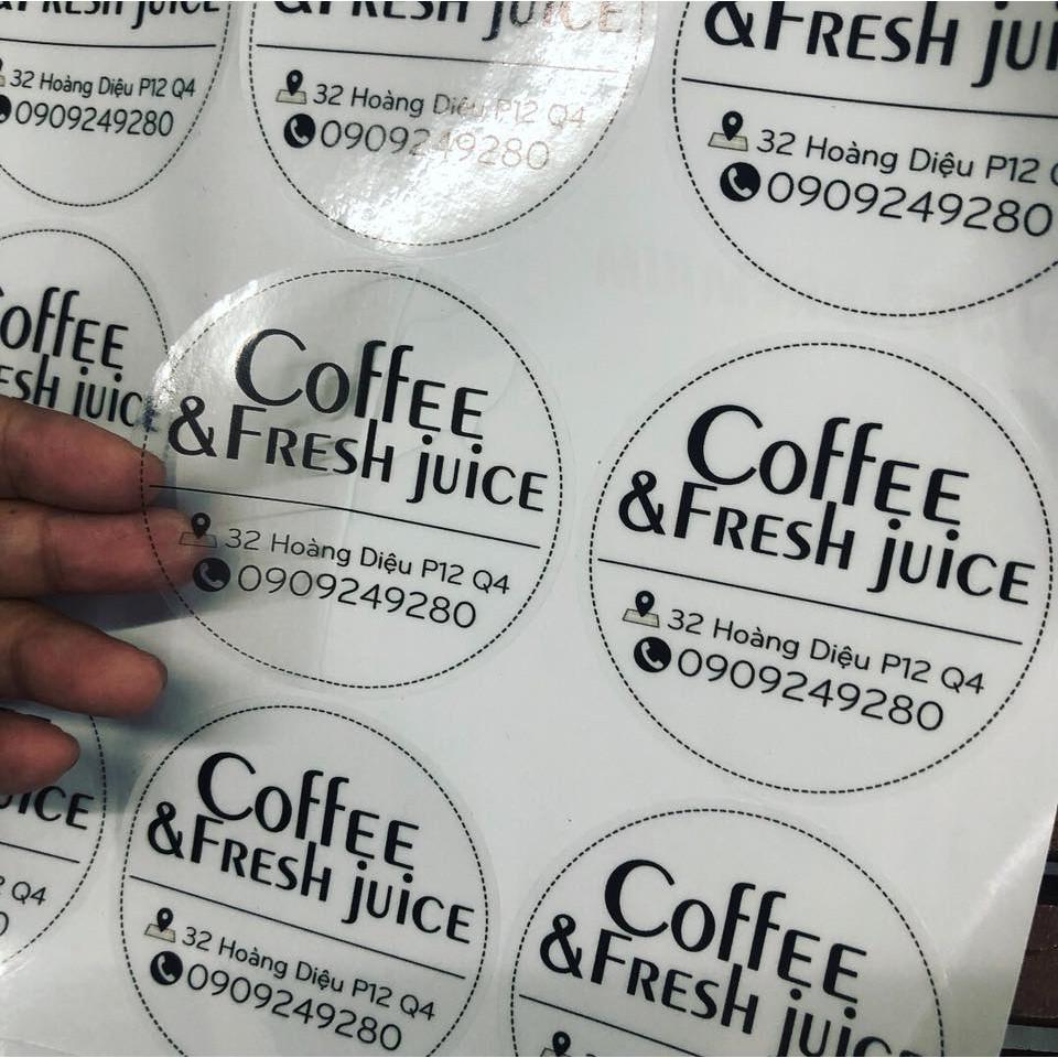 In tem trà sữa tại VIETADV yên tâm về chất lượng