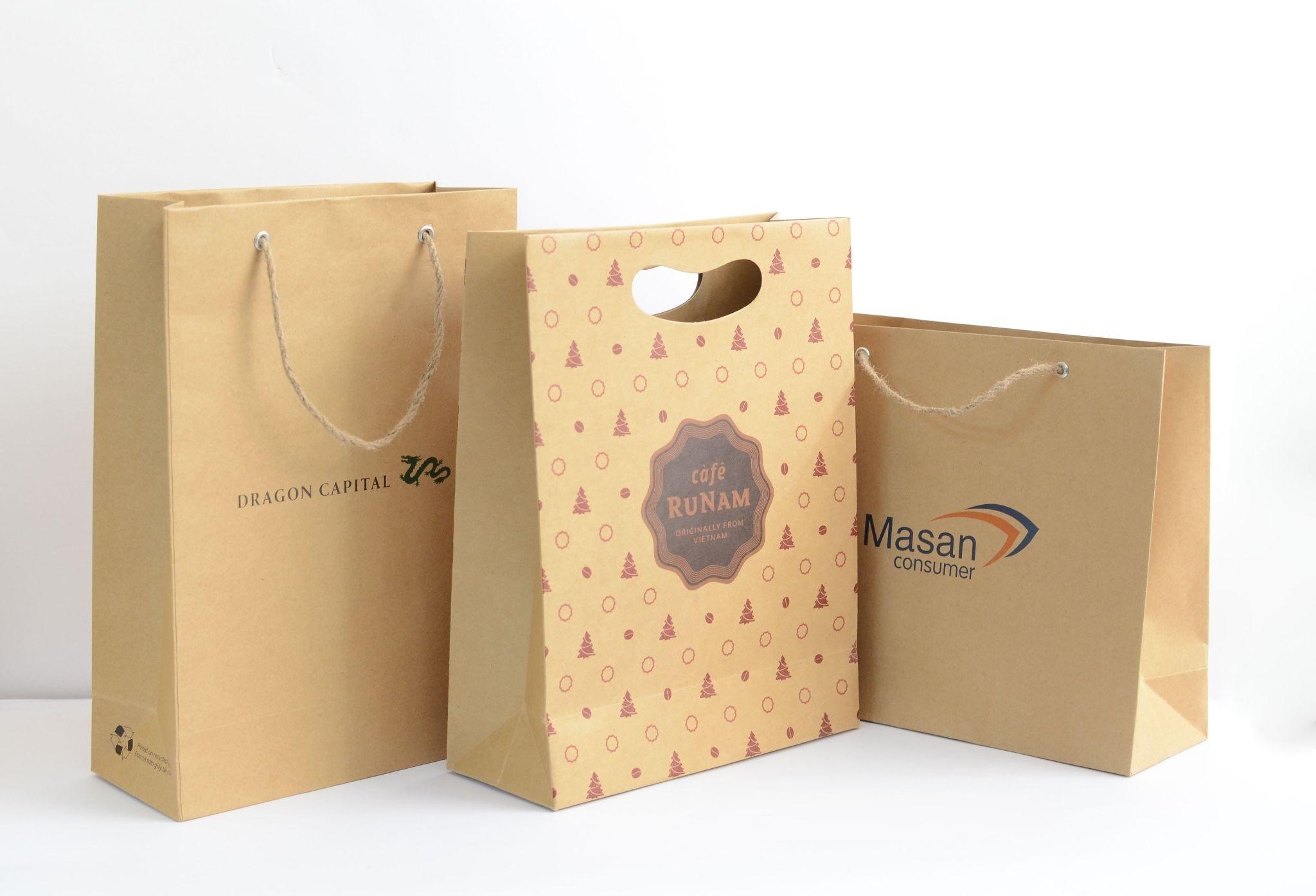 Túi giấy tái chế rất thân thiện với môi trường