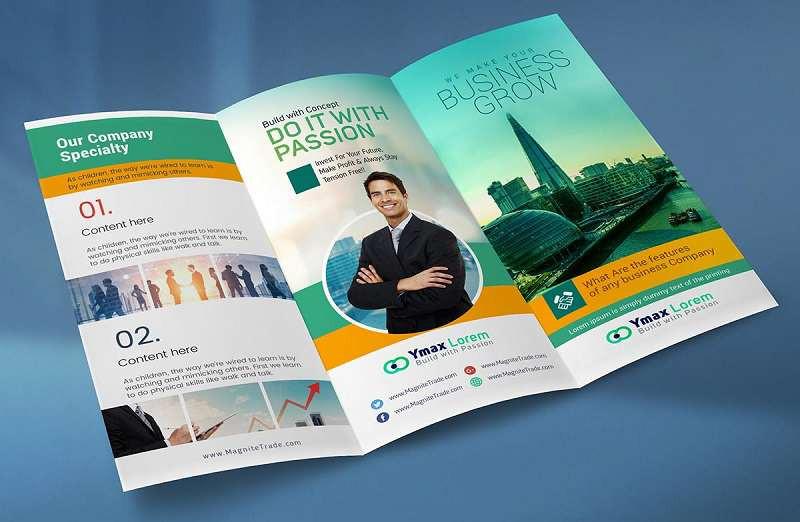 Brochure gấp 3 có thể thay đổi kích thước theo nhu cầu