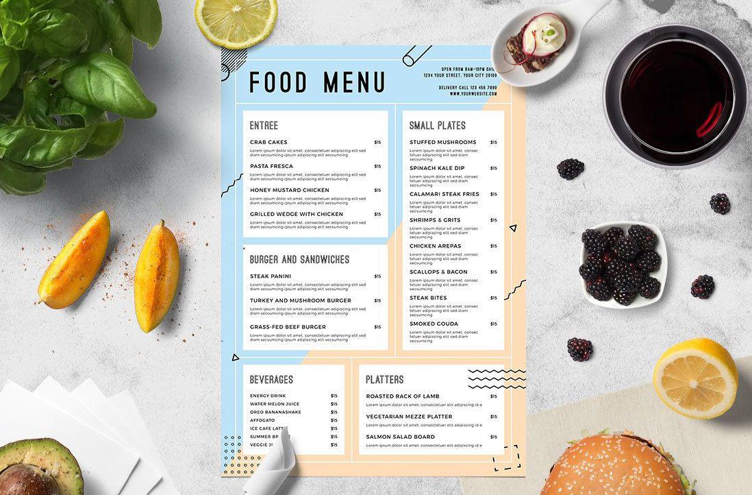 Menu là bảng tóm tắt thực đơn của nhà hàng