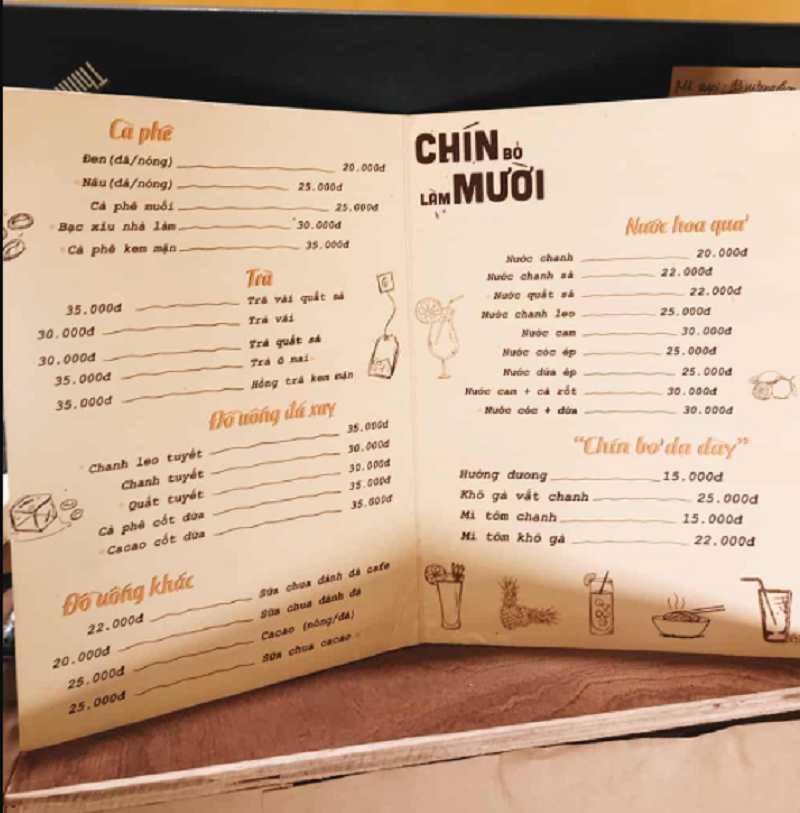 Đảm bảo tuân thủ quy tắc khi thiết kế menu cho quán trà sữa