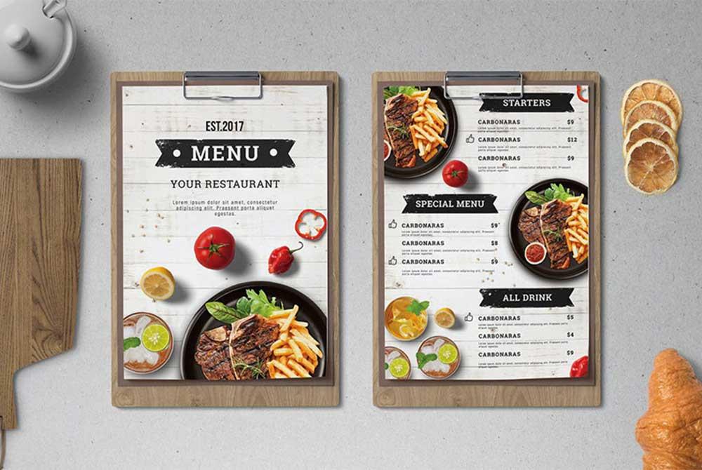 Thiết kế menu sáng tạo, độc đáo