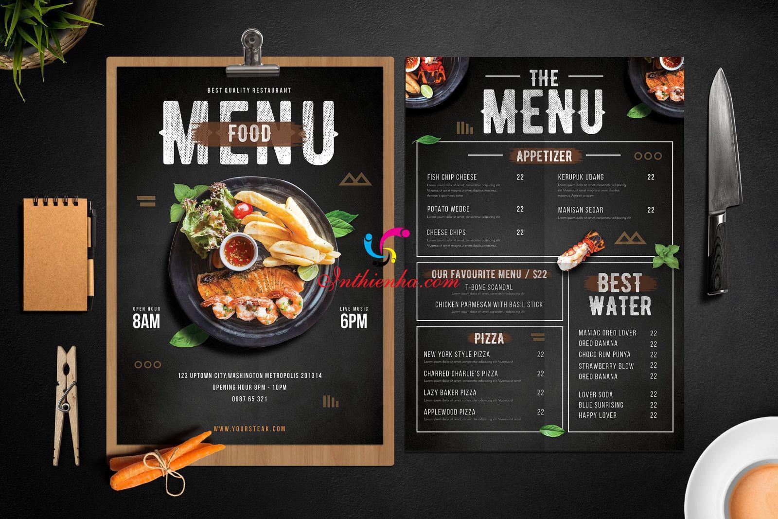 Thiết kế menu cần tạo được cá tính riêng