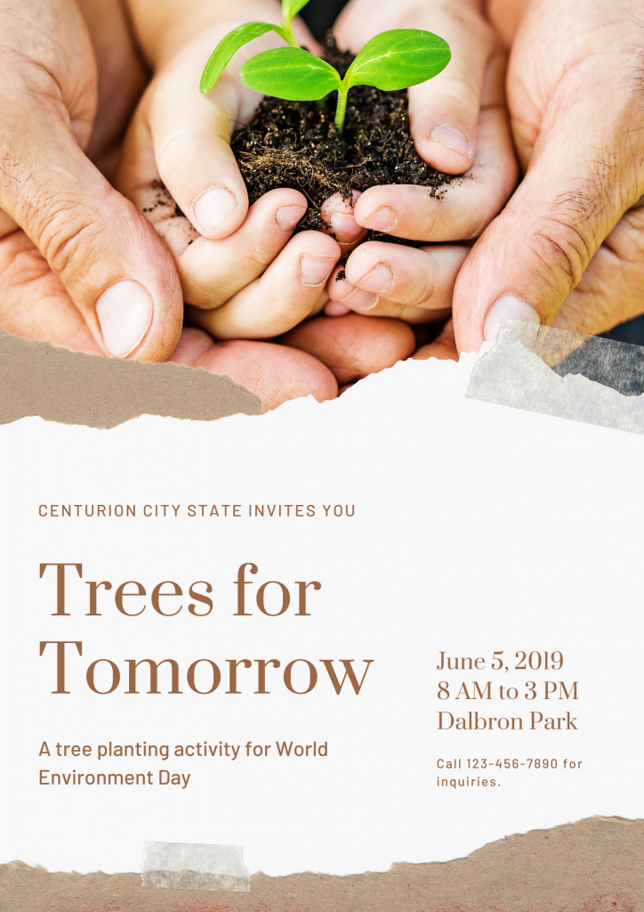 Brown World Environment Day Trees Poster